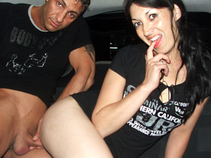 Latina gf night drive sex in the car